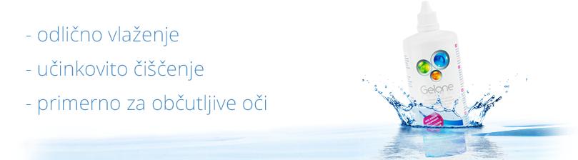 Tekočina za kontaktne leče Gelone 360ml - odlično vlaženje, učinkovito čiščenje, primerno za občutljive oči